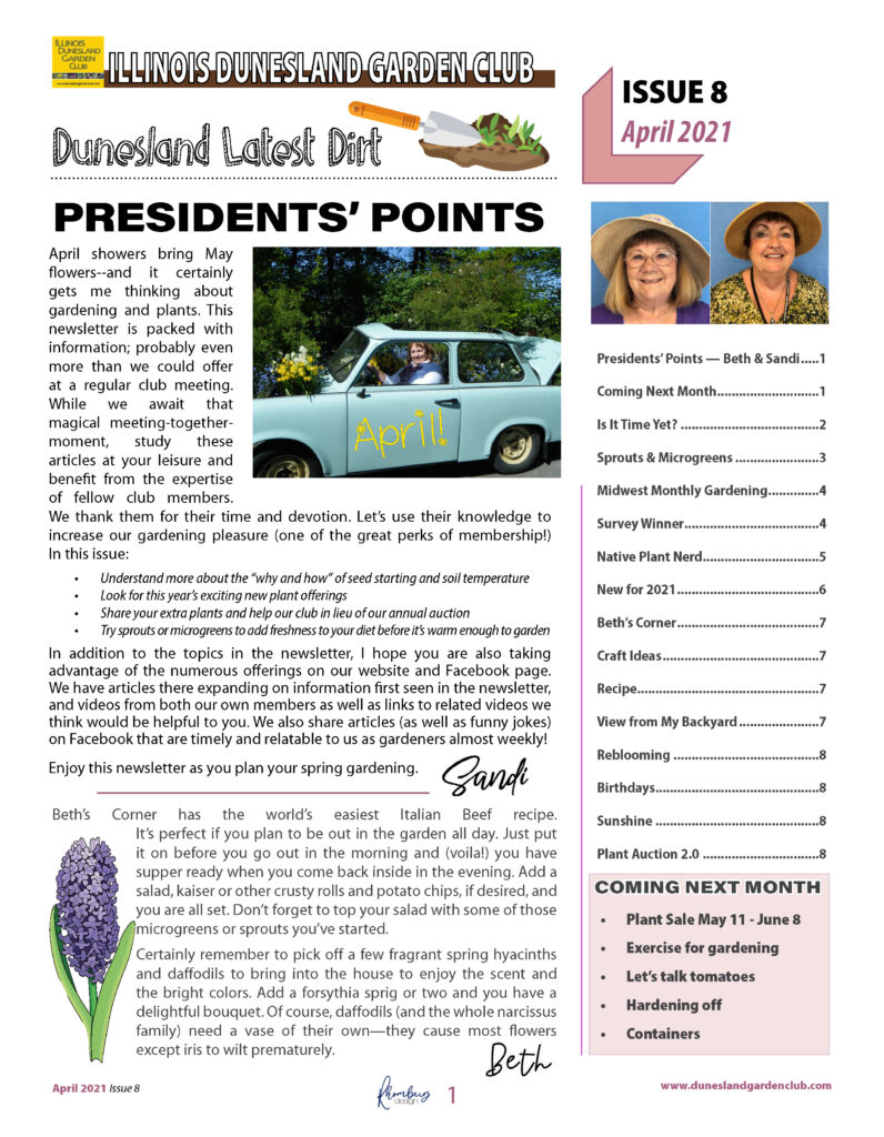 April Newsletter Issue 8 2021